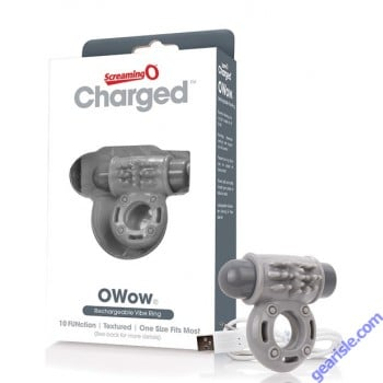 Charged Owow Vibe Ring Grey ScreamingO
