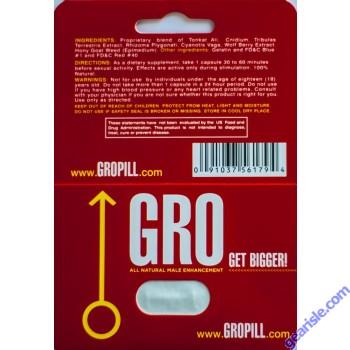 GRO Get Bigger All Natural Enhancement Pill