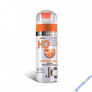 System Jo H2O Tangerine Dream Flavored Lubricant Latex Safe  5.25Oz