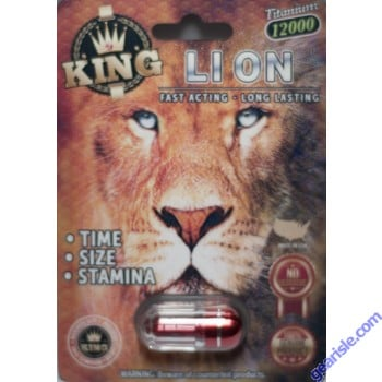 King Lion 12000 Male Enhancement Pill 3D Package