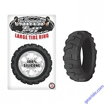 Silicone Large Tire Cock Ring Black Mack Tuff