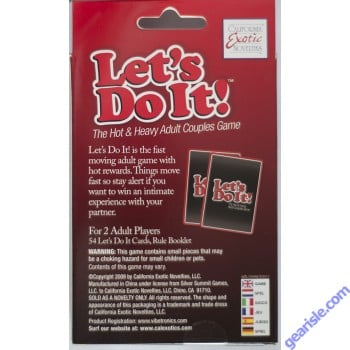 Cal Exotics Let's Do It Playing Card