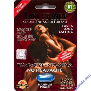 Libi Prince 2500pwr 4 Days Sexual Enhancer for Men 1 Pill Improved Formula