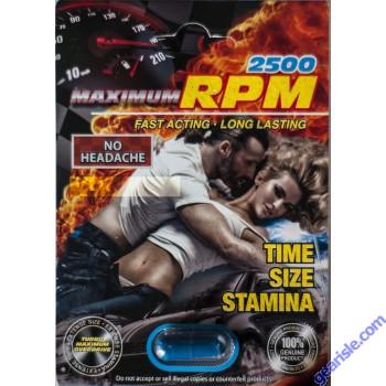 Maximum RPM Libimax 2500 Male Sexual Enhancer Pill