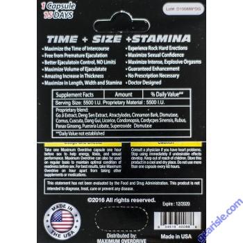 Maximum Overdrive RPM Turbo 5500 Male Sexual Enhancer Pill