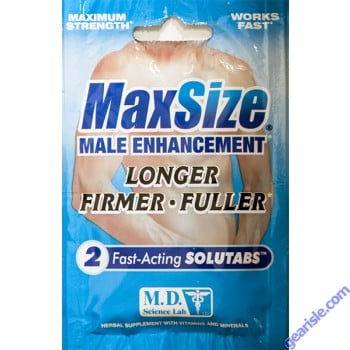 MaxSize Male Enhancement Maximum Strength 2 Caplets
