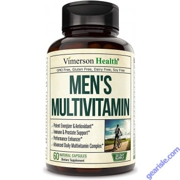 Mens Multivitamin with Zinc No Iron Vegetarian 60 Pills