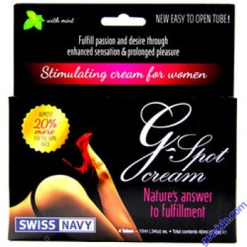 Swiss Navy G-Spot Stimulating Cream for Women with mint 4 Tubes 10ml  Packs