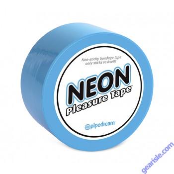 Neon Pleasure Tape Blue Non Sticky Bondage