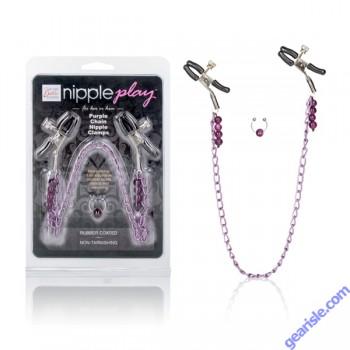Purple Chain Nipple Clamps Cal Exotic