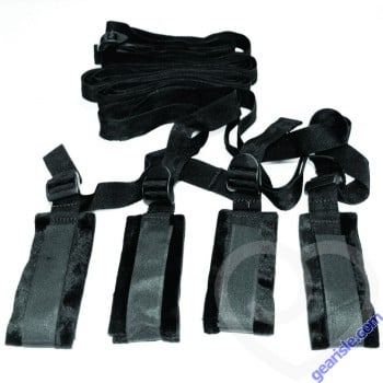 Sex & Mischief Bed Bondage Restraint Black Kit