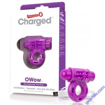 ScreamingO Owow Charged Vibrating Cock Ring Purple