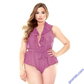 Halter Neck Romper Snap Closure Curve P183