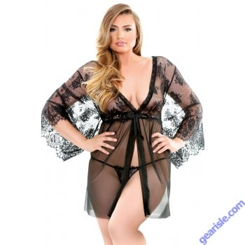 Courtney Lace Robe G-String Curve P209