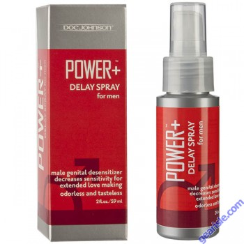 Power + Delay Spray For Men 7.5% Benzocaine 2 Oz Desensitizer Doc Johnson