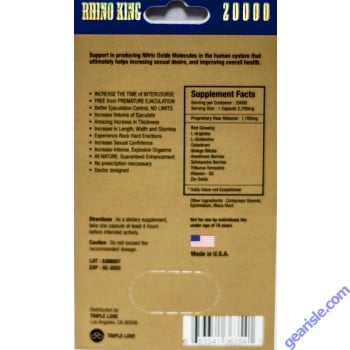 Rhino King 20000 Premier Blue Strong Pill For 12 Days Male Enhancement