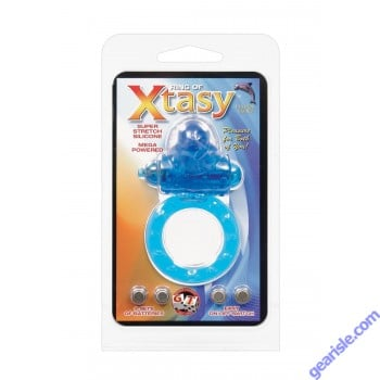 Ring of Xtasy Super Stretch Silicone Mega Powered Blue Dolphin Toy
