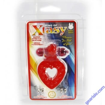 Ring of Xtasy Super Stretch Silicone Mega Powered Red
