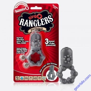 ScreamingO Ringo Ranglers Bandolero 3 Speed Plus Vibration Vibrator