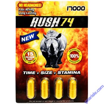 Rush 74 Gold 17000 Male Enhancement Pill