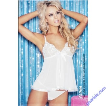 Shirley Hollywood 96121- Sequin Embroidery and Sheer Net Baby Doll