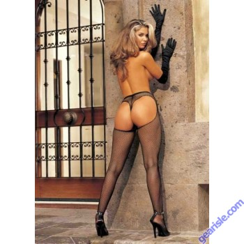 Shirley 90009 Fishnet Pantyhose with Solid Front