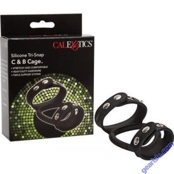 Cock Ring Silicone Tri-Snap C & B Cage Cal Exotics Novelties