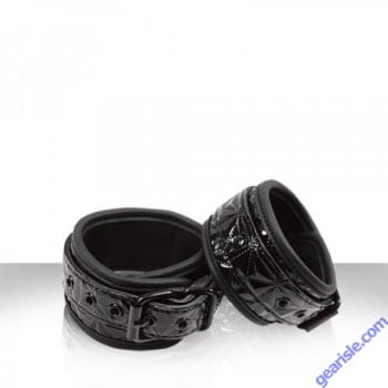 Sinful Black Ankle Cuffs by NS Novelties