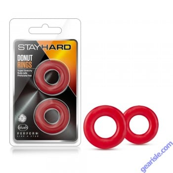 Blush Novelties Stay Hard Donut Rings Red