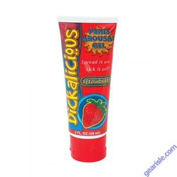Dickalicious Penis Arousal Gel Strawberry 2 oz