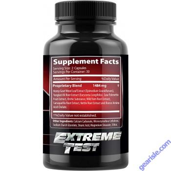 Extreme Testosterone Booster Male Enhancer Horny Goat Tongkat Ali 60c