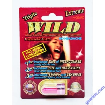 Wicked 1750mg Extreme Triple Sexual Enhancement Red Pill