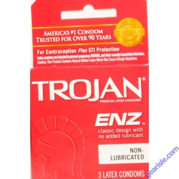 Trojan ENZ Classic Design Non Lubricated Condom 3 Latex Condoms