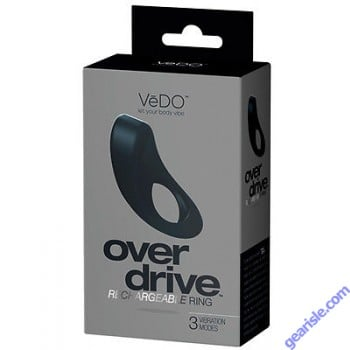 Overdrive Rechargeable Black Ring 3 Vibration Modes