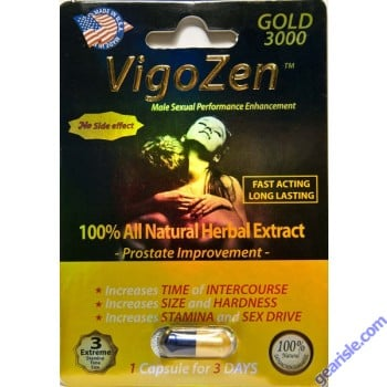VigoZen Gold 1000mg Male Sexual Performance Enhancement by Nutra Vita