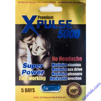 XPulse Genuine Premium 1500 5 Days Super Power Male Enhancement Aumentador De Libido by MSH Distribution