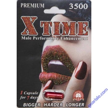 X Time Premium Male Performance Enhancement 3500 1 Capsule for 7 Days by N & S Check, Inc.