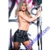 Faux Leather Chains Pleasure Skirt 13-5402