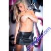 Faux Leather Tempt Tease Skirt 13-7402