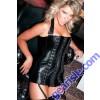 Leather Hook Eye Corset Dress 17-415