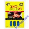 3 KO Blue Gold XT Herbal Male Sexual Enhancer 2750mg 3 Pill