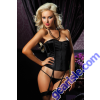 Stretch Satin Bustier 9109P Seven' til Midnight