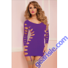 Seamless Long Sleeve Dress 9862P Seven' til Midnight