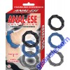 Anal Ese Collection Chainlink Cockrings Black/Blue/Grey