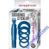 Silicone Cock Rings With Tickler Vibrator Blue