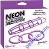 Neon Silicone Cage and Love Ring Set Purple Pipedream