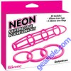 Neon Silicone Cage and Love Ring Set Pink Pipedream