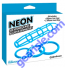 Neon Silicone Cage and Love Ring Set Blue Pipedream